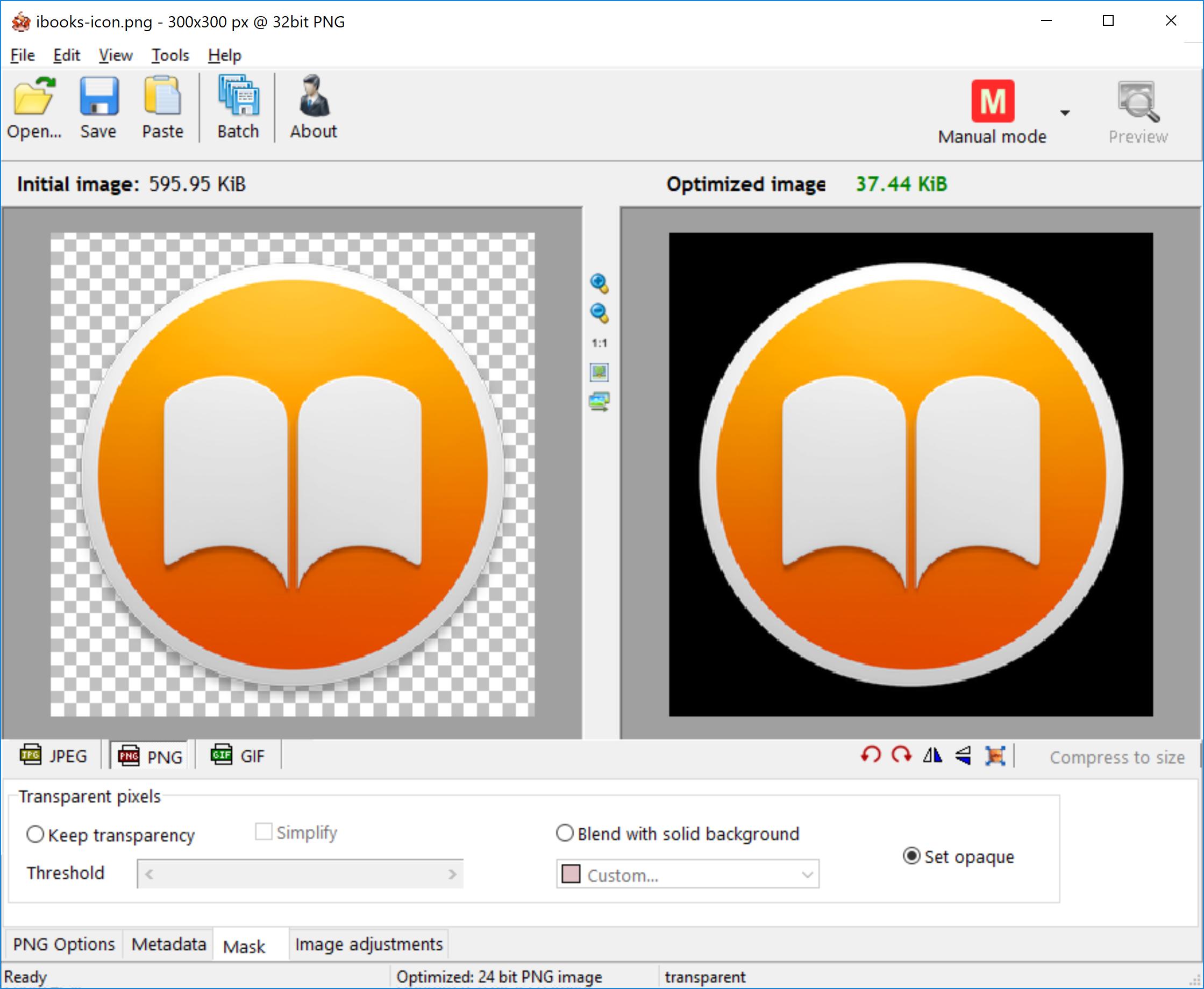 Screenshots | RIOT - Radical Image Optimization Tool