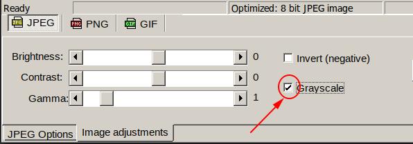 selecting grayscale